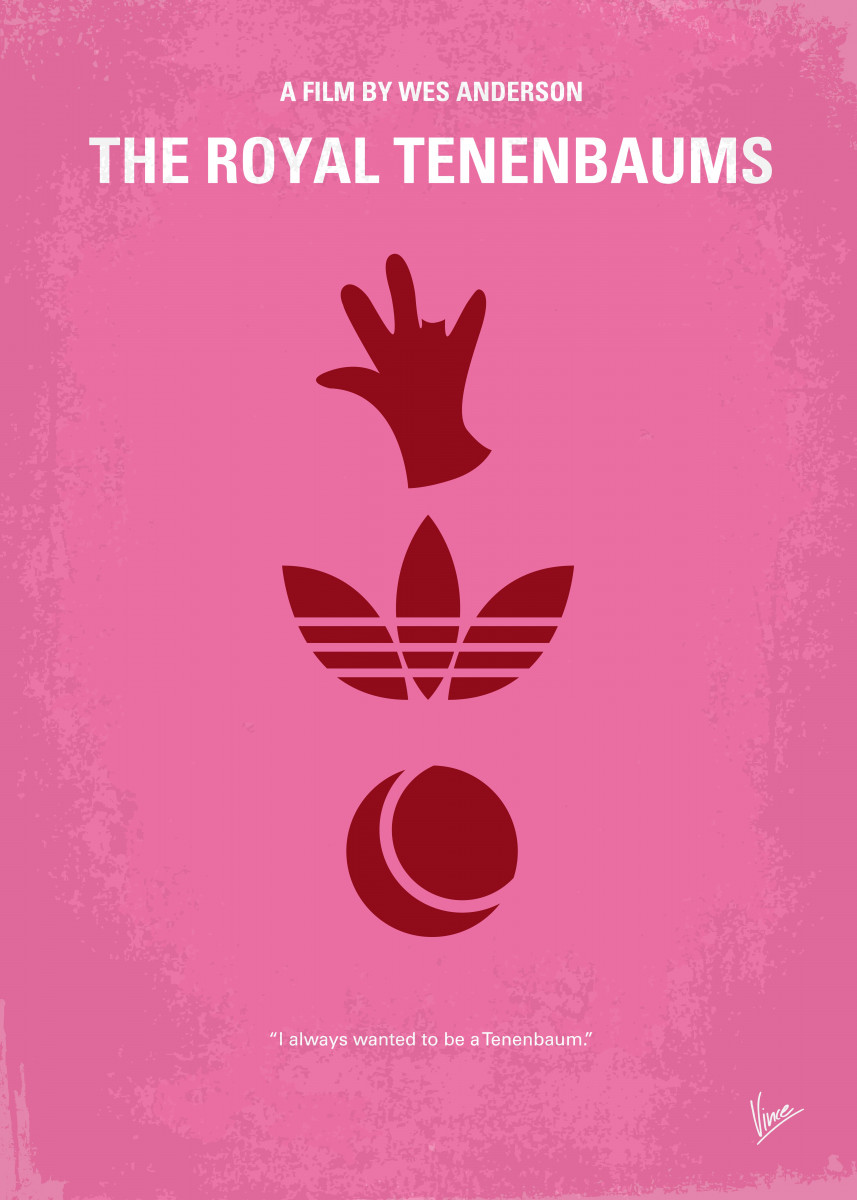 No320 My The Royal Tenenbaums minimal movie poster An estranged famil
