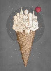 icecream fantasy city cherry ice palace castle temple