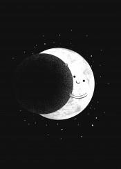 moon space negative space stars humor cute smile hug slideshow carbine