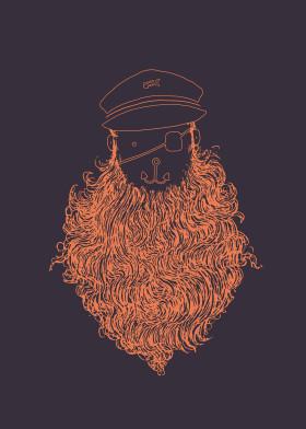captain sailor pirate sea beard anchor eye patch fish