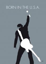 bruce springsteen born in the usa minimal minimalism minimalist poster artwork alternative chungkong