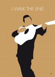 johnny cash walk the line minimal minimalism minimalist poster artwork alternative chungkong song mu