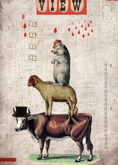elo marc Animal Collection   Displate Prints on Steel