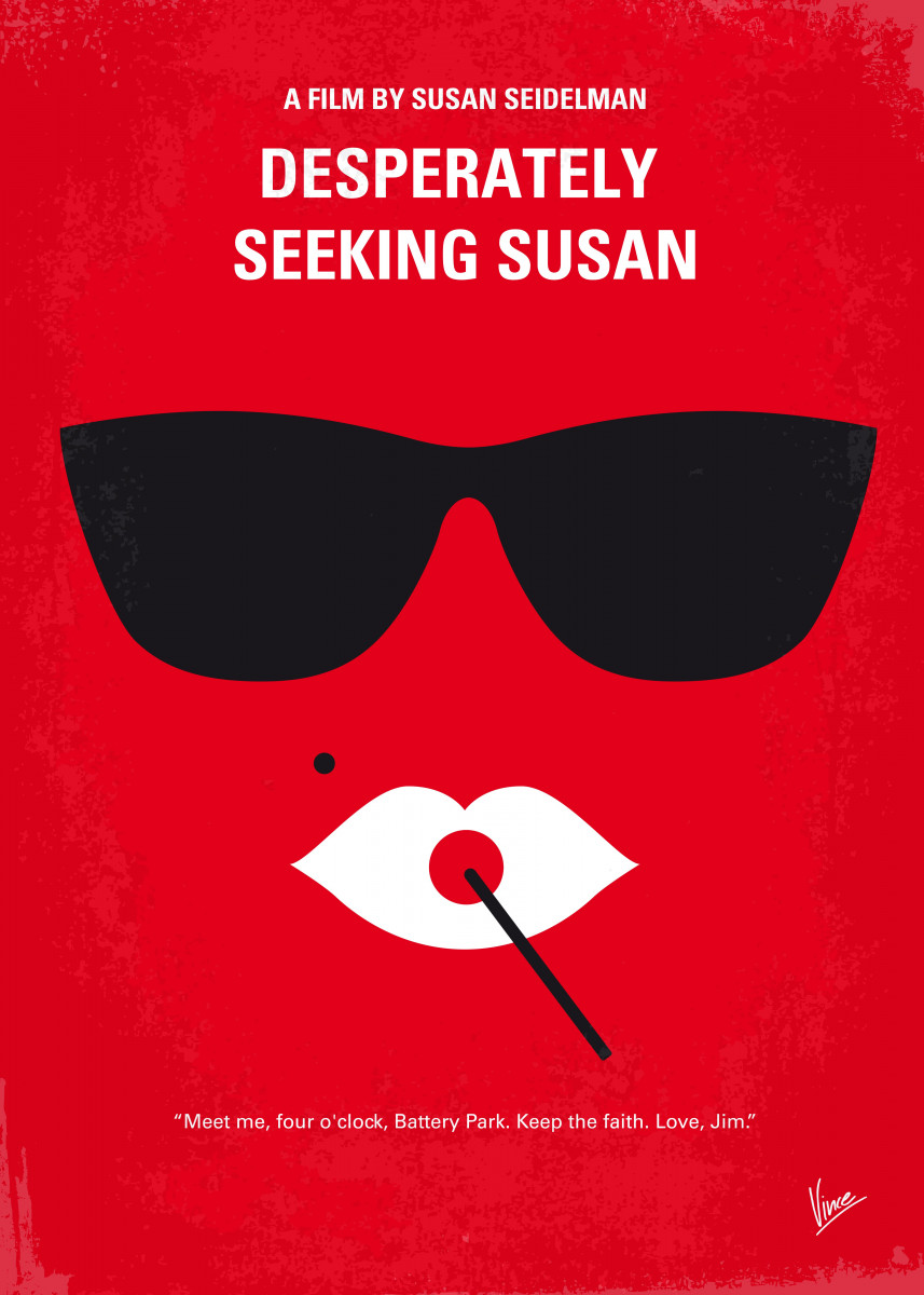 No336 My desperately seeking susan minimal movie poster A bored subur 32345