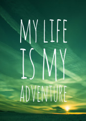 adventure life outdoor travel sunlight green emerald sky endless freedom clouds horizon words quote