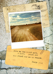 road inspiration psalm verse bible path collage