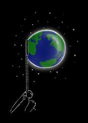 bubble space art design illustration