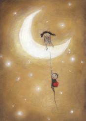 love moon heart
