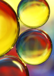 oil water abstract macro bubbles colourful