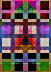 checked squares geometric plaid colourful textures pink purple black white block abstract