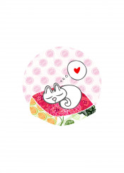 cat kitty cute pink red heart love
