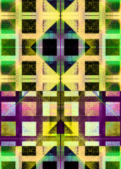 geometric graphicdesign abstraction checked squares colourful textures piaschneider yellow green