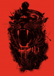 graphic design animals lion wild