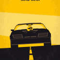 No051 My Mad Max 1 minimal movie poster A vengeful Australian policeman sets out to avenge his partner, his wife and his son whom were murdered by a motorcycle gang in retaliation for the death of their leader. ad, Max, Mel, Gibson, road, warrior, wasteland, future, vengeance, oblivion, antihero, Biker, Car, interceptor, V8,