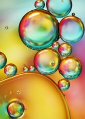 oil water abstract macro bubbles colourful fun bright rainbow