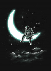 space astronaut moon cosmic outerspace universe music song stars