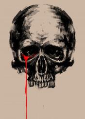 skull tears art design graphic design illustration