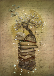 books tree keys knowledge