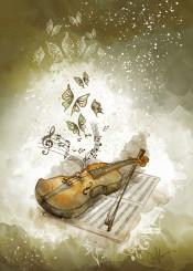 violin music butterflies
