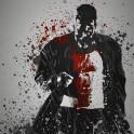 """""""Sin"""" Splatter effect artwork inspired by Marv from Sin City."""