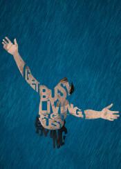 shawshank redemption rain type typogaphy quote quotes filmart art fanart