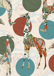 giraffe polka dots pattern whimsical