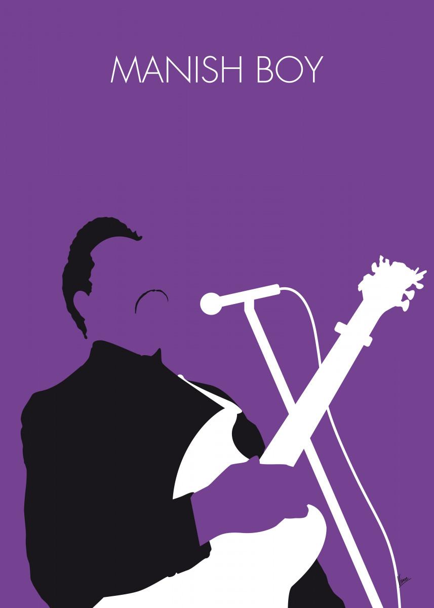 No061 MY Muddy Waters Minimal Music poster