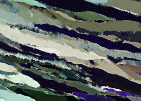 slope landscape ice blue green gray abstract diagonal random