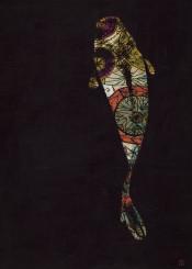 art digital japan koi dark colors