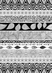 aztec tribal nature black and white