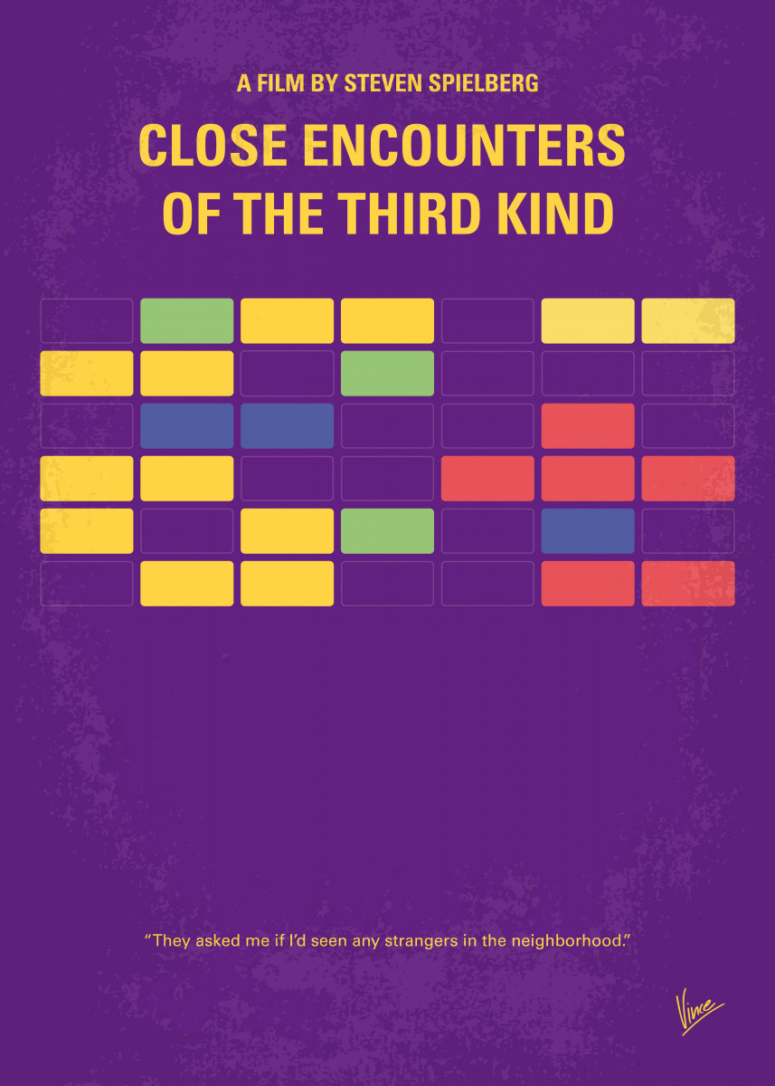 No353 My ENCOUNTERS OF THE THIRD KIND minimal movie poster After an e