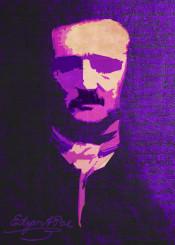 edgar allan poe poster writer purple gothic dark