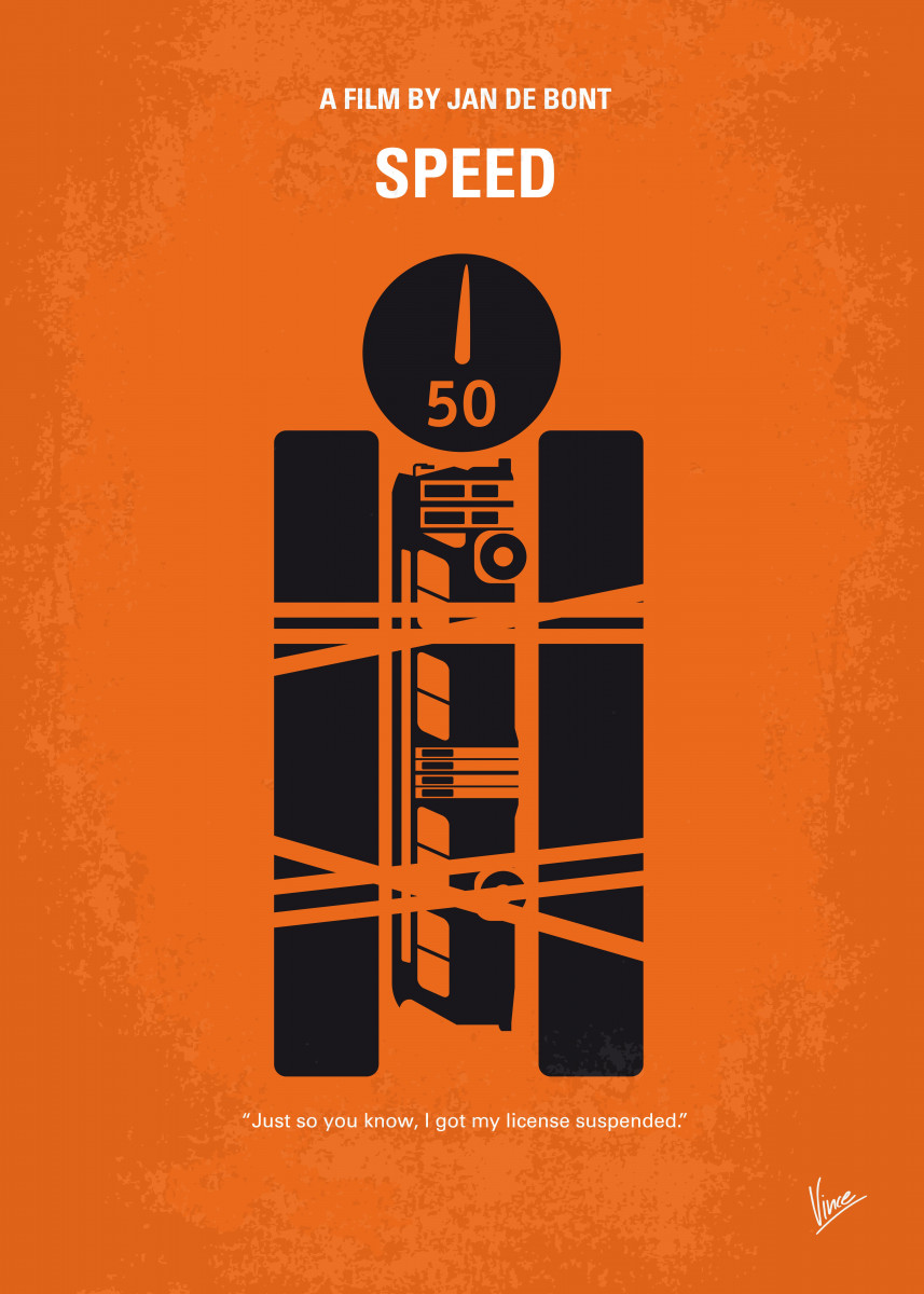 A young cop must prevent a bomb exploding aboard a city bus by keeping 46505