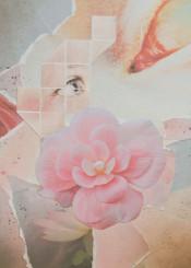 collage pink grey eye flower blue pastel