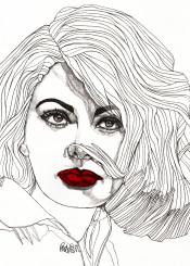 sophia loren portrait portraiture contemporary women cool face red lips eyes model fashion