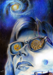jarre music portrait astronomy poster galaxy foetus
