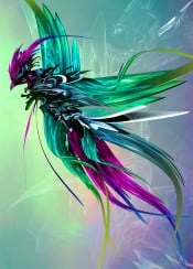phoenix fantasy abstract surreal beautiful colors flight reborn wings bird wildlife sky cool magical