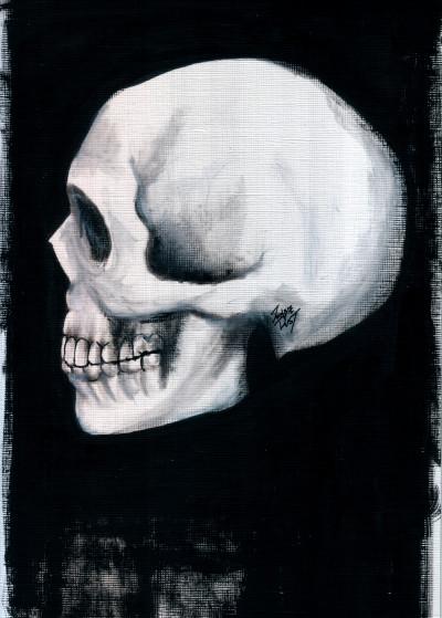 Zombie Rust Skulls and Skeletons   Displate Prints on Steel