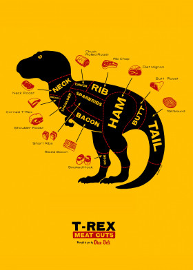 dinosaur dino deli food chart meat pieces food education rex tyrannosaurus trex rex