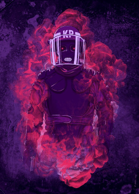 karma police riot helmet