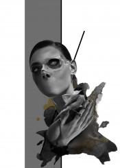 bird girl illustration digitalgraphic graphic trash trashart