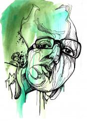 illustration draw head graphic watercolor portrait lines