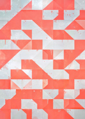 coral white drips diamond creamsicle