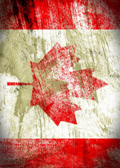 flag canada the maple leaf vintage distressed