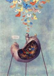 love butterflies stomach