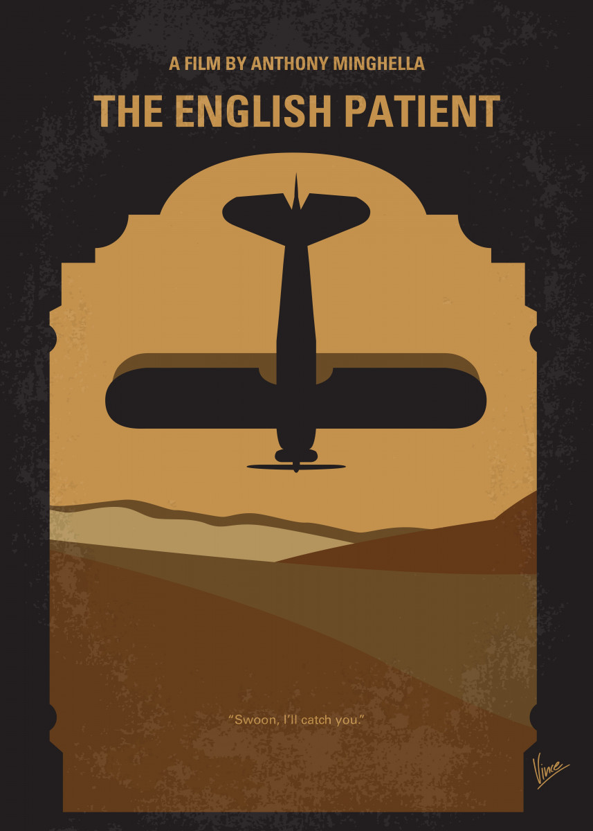 No361 My The English Patient minimal movie poster At the close of WWI