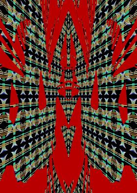 receding distance corridor random abstract rorschach echo