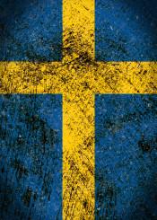 swedish flag sweden vintage distressed konungariket sverige