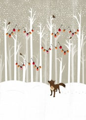 december kakel illustration nature winter landscape