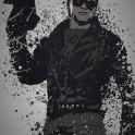 """""""Ill be back"""" Splatter effect artwork inspired by Terminator"""